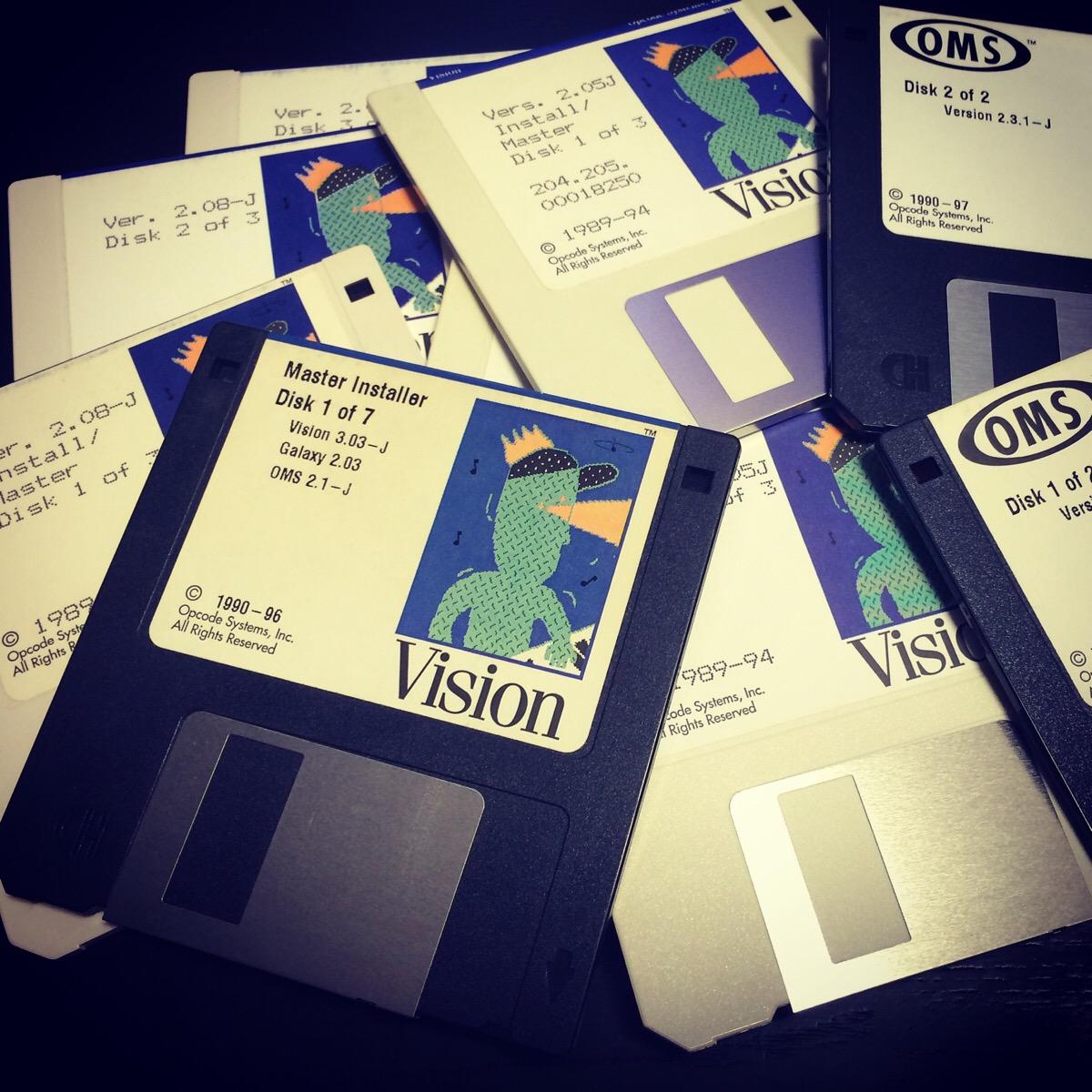 VISIONのインストールディスク